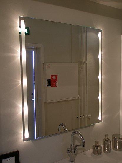 spejl med lys tilbud
